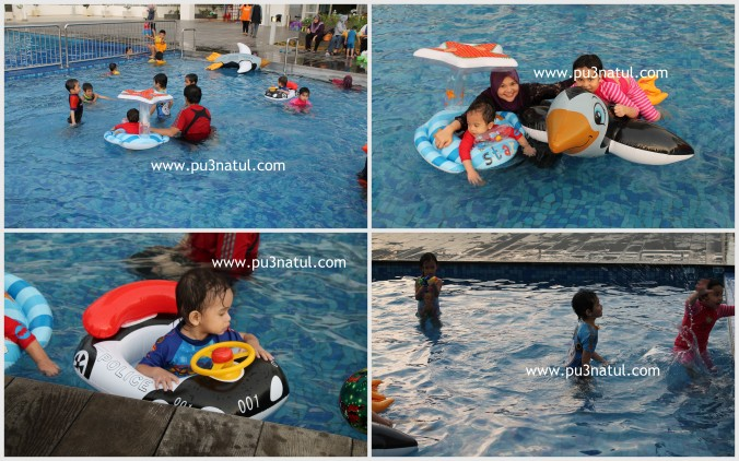 Last but not least, what's a pool party without pool time!Mama jadi photog saja kay!