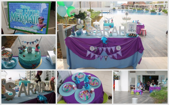 Party setup. See the cake. I love it!