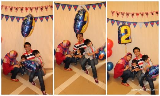 The usual scenario bila nak shoot family pic. Haihh! Tidak berjaya.