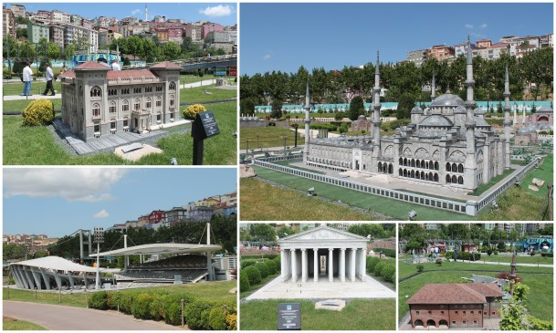 The Miniaturk is a place where they build replicas of the historical building in Turkey and put it all in a garden