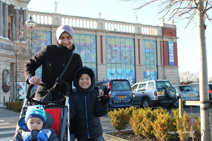 In front of Trafford Centre. This was the new wing where Legoland and Sealife are located