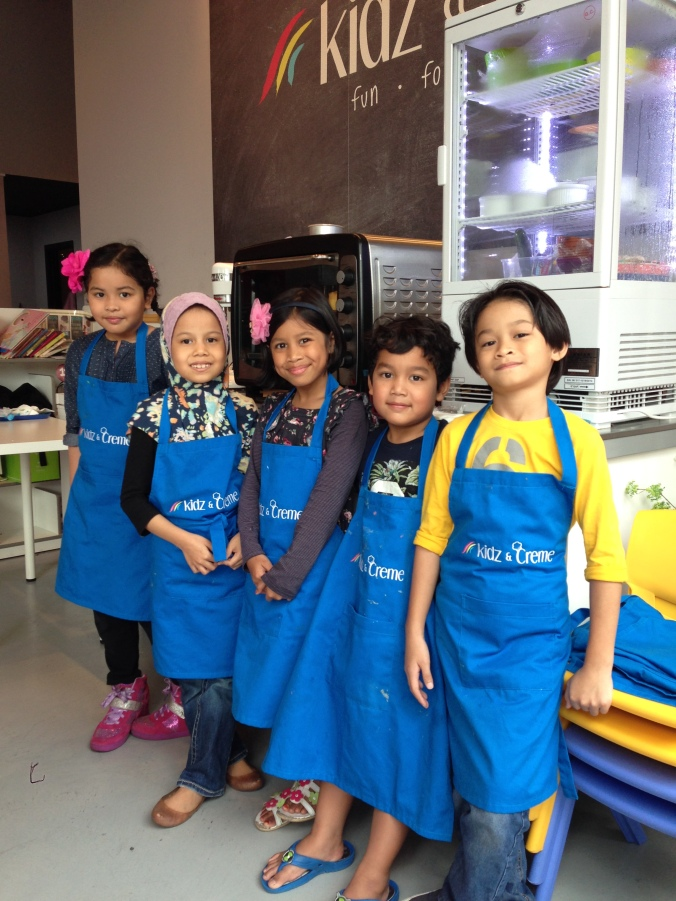 On their last day at Kidz & Creme