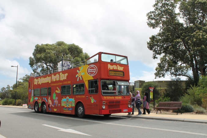 We ride on this double decker for the sight seeing round the city