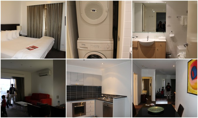 One bedroom apartment complete with kitchen, washing machine and a dining area.